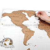 Le PVC souple ou matériau de papier impression personnalisée Global Travel Scratch Off Map