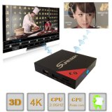 Cadre du SYSTÈME D'EXPLOITATION TV de l'androïde 6.0 d'Amlogic S905X E8 avec H. 265, boîtier décodeur du vidéo 4K*2K