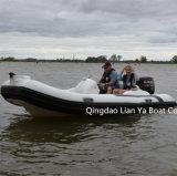 Liya 14FT Luxuxboots-aufblasbares Rippen-Boots-Cer der geschwindigkeits-4person