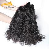 Extensión india del pelo de la onda de océano de Remy del color natural
