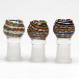 Claro femenino de cristal redondo de la bóveda con remolinos coloridos y bóvedas de las plataformas petroleras de las ondas que fuman los accesorios
