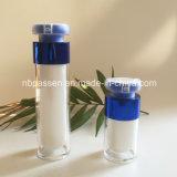 bottiglia senz'aria acrilica blu lucida 15ml per l'imballaggio di Skincare (PPC-NEW-163)