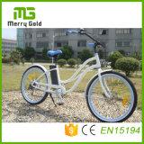 """26의 """" 인치를 가진 Beach Cruiser Electric Bicycle 36V 250W 숙녀 여자 바닷가 E 자전거"""
