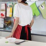 앞치마 공장 빨간 줄무늬 포켓을%s 가진 디자인에 의하여 인쇄되는 면 부엌 조정가능한 요리 획일한 앞치마