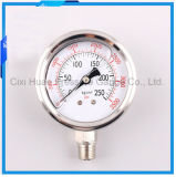 2.5inches高品質のオイルの満たされたステンレス鋼の圧力計か通常の振動試験圧力のゲージ