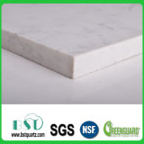 Белый Countertop камня кварца с серыми венами