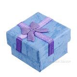 Подарок серьги кубика восхода солнца 600g бумажный Samll пакуя упаковывать голубой коробки