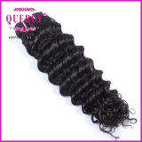 A parte inferior grossa do cabelo humano da alta qualidade empacota a gota por atacado da onda das extensões do cabelo profundamente que envia o cabelo humano