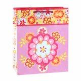 Rosafarbenes Blumen-Muster-Form-Kleidungs-Verzierung-Geschenk-Papierbeutel