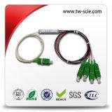 Divisore d'acciaio ottico del tubo del PLC 1X4 della fibra mini mini
