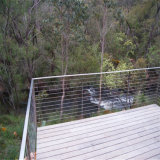 Alambre del balcón del acero inoxidable/pasamano constructivos del cable para la escalera o el balcón
