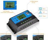 precio de fábrica de 10 a 20 A 30 A 12V 24V USB para la pantalla del controlador Solar Sistema Solar