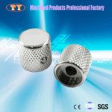 Molette en aluminium moletée d'index blanc, molette de potentiomètre, molette de commutateur rotatif