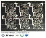 PWB frente e verso da placa de circuito impresso com máscara preta da solda para a eletrônica, SMT