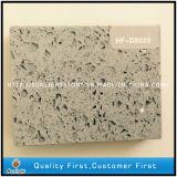 Quarzo di pietra artificiale bianco di superficie solido costruito delle lastre (con vetro)