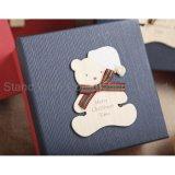 Coffrets cadeaux de Noël personnalisée de nidification, coffret à bijoux de papier