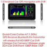 2017 PC externa androide barata de la tablilla de Bluetooth 3G con GPS Navgation, 2.0mega coche HD1080p lleno DVR, cámara dual del coche; Bluetooth 4.0; Transmisor de FM para el audio del coche;