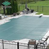 Couverture verte de piscine de maille de sûreté pour des piscines d'Inground