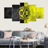 5 pinturas enmarcadas pared del arte de la lona de la impresión del panel HD Borussia Dortmund para el cuadro Kn-21 de la pared de la sala de estar