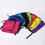 Il colore dei capretti spazzola il sacchetto di spalla dell'illustrazione dello zaino di Materialcarry della tela di canapa