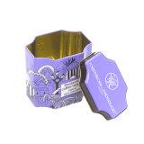 De forma irregular de los alimentos dulces tin box