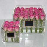 Konservierter frische Blumen-Acrylkasten für Rosen