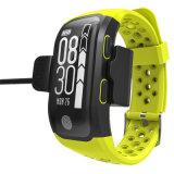 S908는 IP68 GPS 팔찌 G 센서 심박수 모니터 스포츠 지능적인 시계를 방수 처리한다