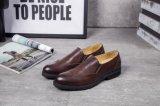 Из натуральной кожи коричневого цвета в итальянском стиле обычных мужчин платья свадебная обувь