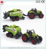 El plástico al por mayor hace precio barato del juguete a mano del carro de la granja