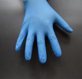 Azzurro sicuro dell'alimento a gettare libero della polvere dei guanti dell'esame del nitrile