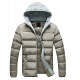 No Inverno para homens engrossar Aquecedor removível nova moda casual jaqueta capuz