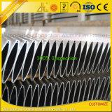 PVDF personalizada exterior recubierto de polvo de la rejilla de aluminio extrusionado Oval