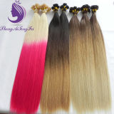 #613/Pink Ombre Spitze-Jungfrau-Haar-Extension des Farben-Keratin-U