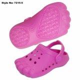 분홍색 귀여운 발은 모양 아이를 위한 샌들을 막는다