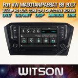 De Vensters van Witson zenden StereoSpeler DVD voor Volkswagen Magotan Passat B8 2017 via de radio uit