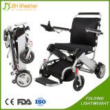 Cadeira de rodas Foldable de pouco peso ao ar livre da energia eléctrica para o sénior