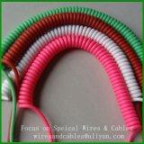 Câble de spirale de fil de ressort hélicoïdal de PVC Pur