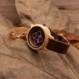 Madera de madera hecha a mano del reloj de los pares para el movimiento de Japón de los amantes