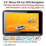 """Venta de fábrica 5.0"""" Alquiler de carretilla Marine, navegación GPS con WINCE 6.0 Sistema de navegación GPS, FM, AV de la cámara trasera de aparcamiento, navegador GPS, Bluetooth, antena de seguimiento"""