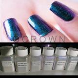 Camaleón de cromo brillante efecto espejo el polvo de pigmento de uñas manicura