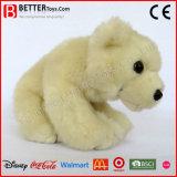 Jouet mou d'ours blanc de peluche de la peluche En71 pour des gosses de bébé
