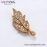 32415 mejor venta de Crystal L Heart-Shaped Diamante CZ 18K Joyería Colgante Collar chapado en oro.