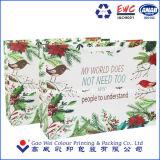 La couleur de pliage sac de papier personnalisés Craft Shopping sac de papier Logo d'impression