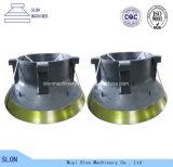 高いマンガン鋼鉄Goodwin Barsby 4 HDの円錐形の粉砕機のふたおよび凹面