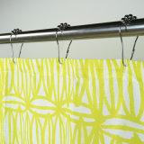 水防水加工剤べと病抵抗の100%年のポリエステルファブリック浴室のシャワー・カーテン