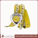 Relógio novo da faixa do couro do relógio das meninas da forma do estilo
