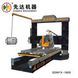 torno mecânico de pedra mármore granito CNC PLC Profiling para rodapé balaustrada Linear Monumento Tombstone Xianda Gantry-Lifting China