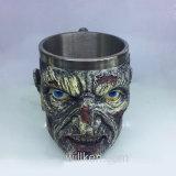 Halloweenの最も新しいステンレス鋼はさみ金の飲む頭骨のマグの樹脂3Dの骨組コップのマグ