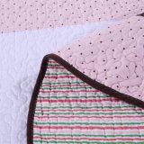 100% algodão roupa de Duas Peças Rosa crianças definido