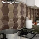 De vlotte Muur van het Ontwerp van het Gezicht Hexagon en de Ceramiektegel van de Vloer